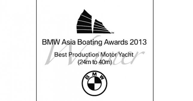40M Wins Best Production Yacht