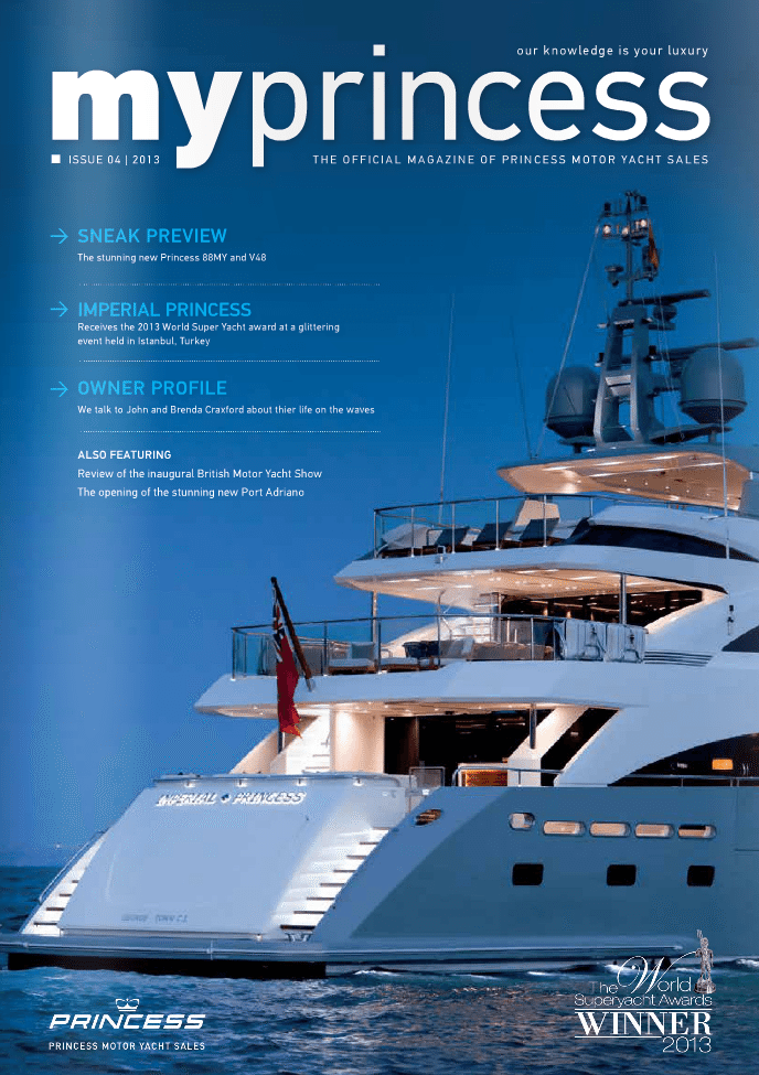 Princess Motor Yachts Autumn 2013 World Superyacht Awards Winner