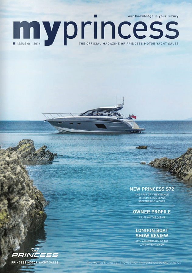 Princess Motor Yacht Sales - MyPrincess Magazine Cover 2014