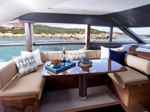 Princess 60 Yacht - Boat Dining Area