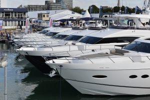 Princess yachts berthed
