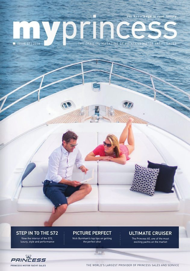 Princess Motor Yachts Summer 2014 Relaxing on the deck