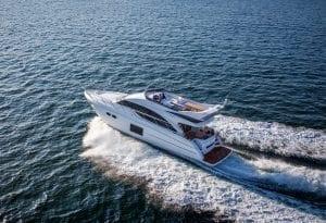 Princess 56 Flybridge Motor Yacht at 33 knots