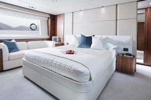 Princess 75 motor yacht interior owners stateroom