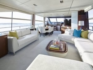 Princess 75 motor yacht interior saloon