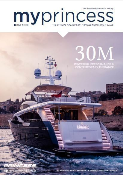 Princess Motor Yacht Sales - MyPrincess Magazine Cover 2016