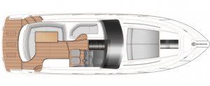 Princess V40 V Class Motor Yacht Main Deck Layout