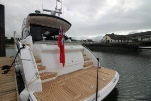 Princess motor yacht transom