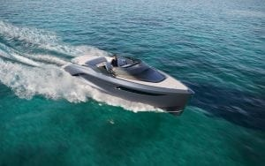Princess R35 on the water