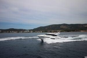 Princess motor yacht at sea