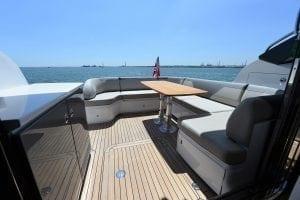 Princess V50 deck in the sunshine