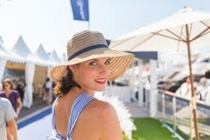 Lady in sunhat at Cannes