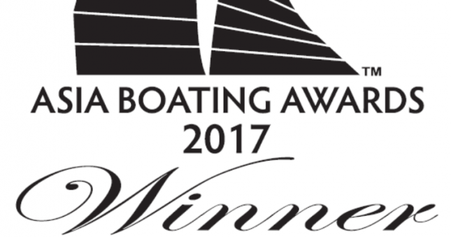 Princess V40 named as the Best Sportscruiser (up to 45ft) at the Asia Boating Awards 2017 in Singapore